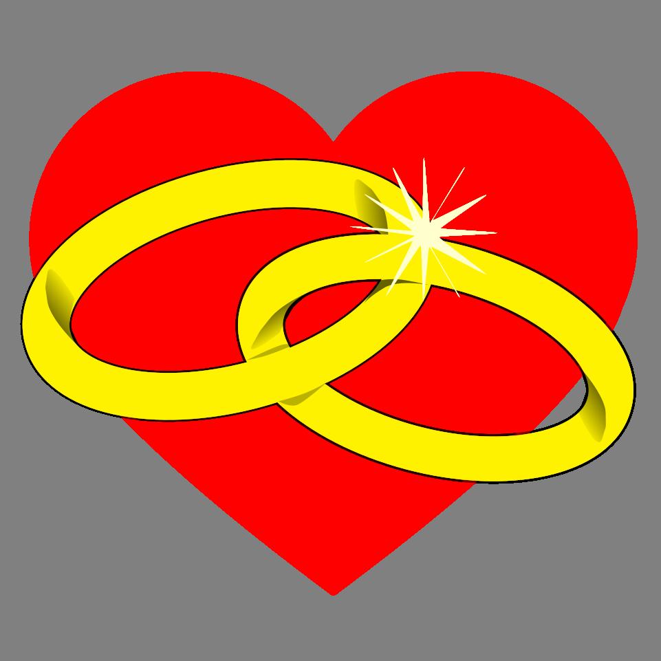 Blahopřání k sňatku, obrázková přáníčka - Blahopřání k sňatku pro novomanžele